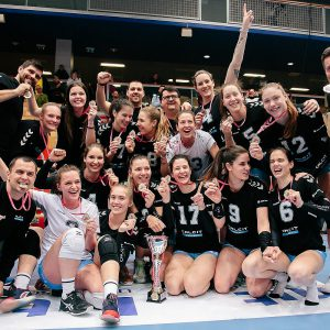 KAMNIK are the 2020 women's MEVZA League champions, MARIBOR take Silver and rookies BRCKO Bronze