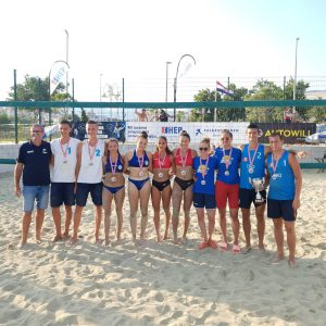 Croatia's newly crowned national champions secure spot to compete at #EuroBeachVolleyU18