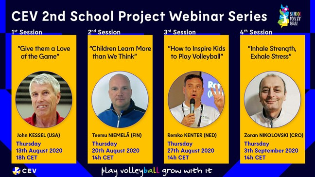 CEV launches second School Project webinar series featuring four high-level speakers