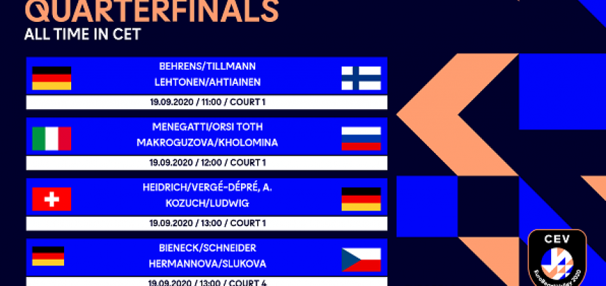 CEV EuroBeachVolley quarterfinals live exclusively on Eurovolley.tv