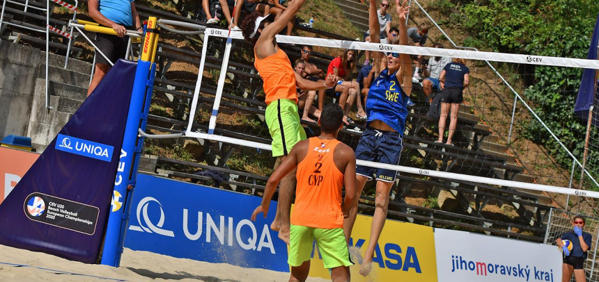 Cyprus with a historic 4th place at #EuroBeachVolleyU20