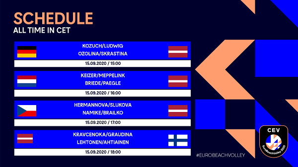 Watch MEVZA teams at #EuroBeachVolley 2020 on one of the live stream options!