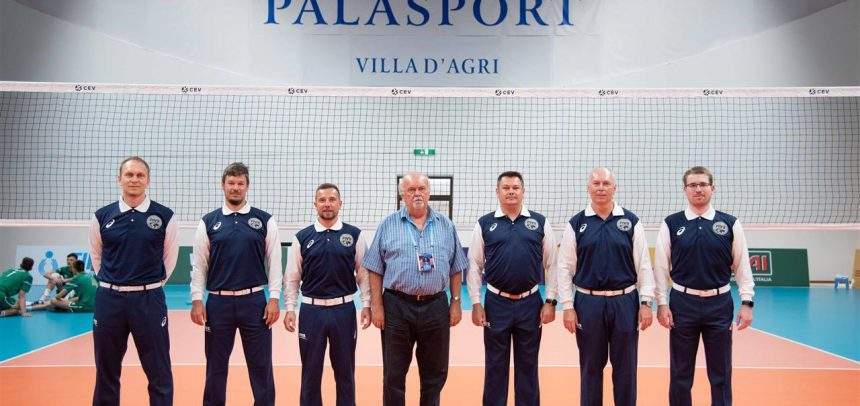 Novak (SLO) and  Horvath (HUN) among the referees at the #EuroVolleyU18M