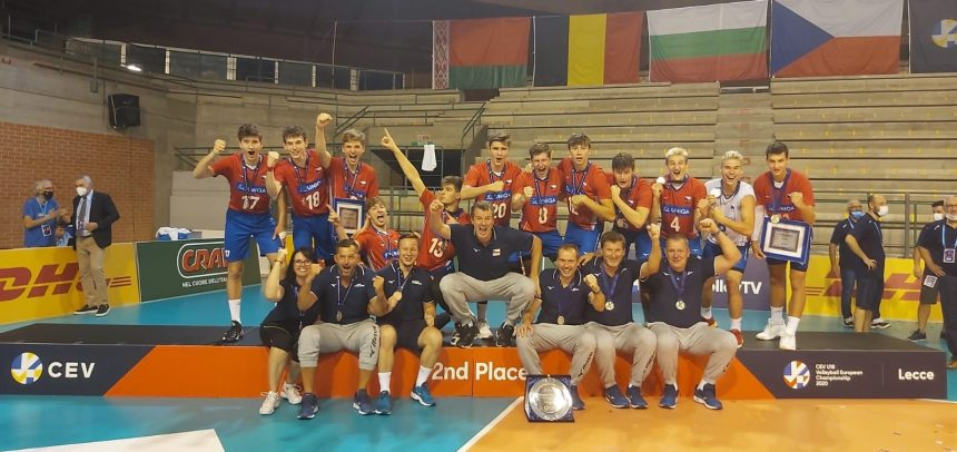 Czech Republic with a second place at #EuroVolleyU18M