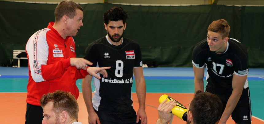 Team Austria takes positives from friendly match ahead of #EuroVolleyM qualifier